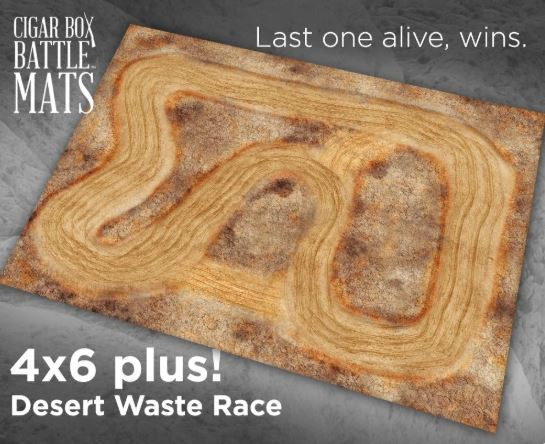 Desert Waste Race Battle Mat (6x4 Plus)