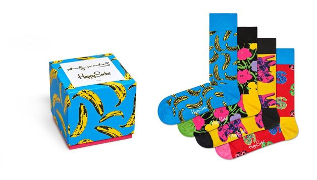 Happy Socks: Andy Warhol Gift Box M-L (41-46)