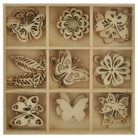 Kaisercraft: DIY - Wooden Shapes Butterflys - 45 Pc