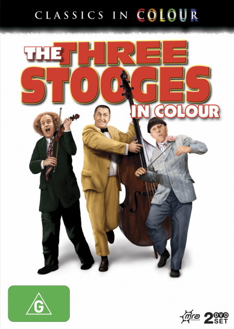 Three Stooges In Colour, The (Classics In Colour) (2 Disc Set) on DVD image