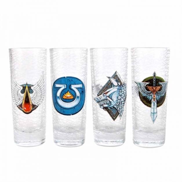 Warhammer - Chapter Shot Glasses (Set Of 4)