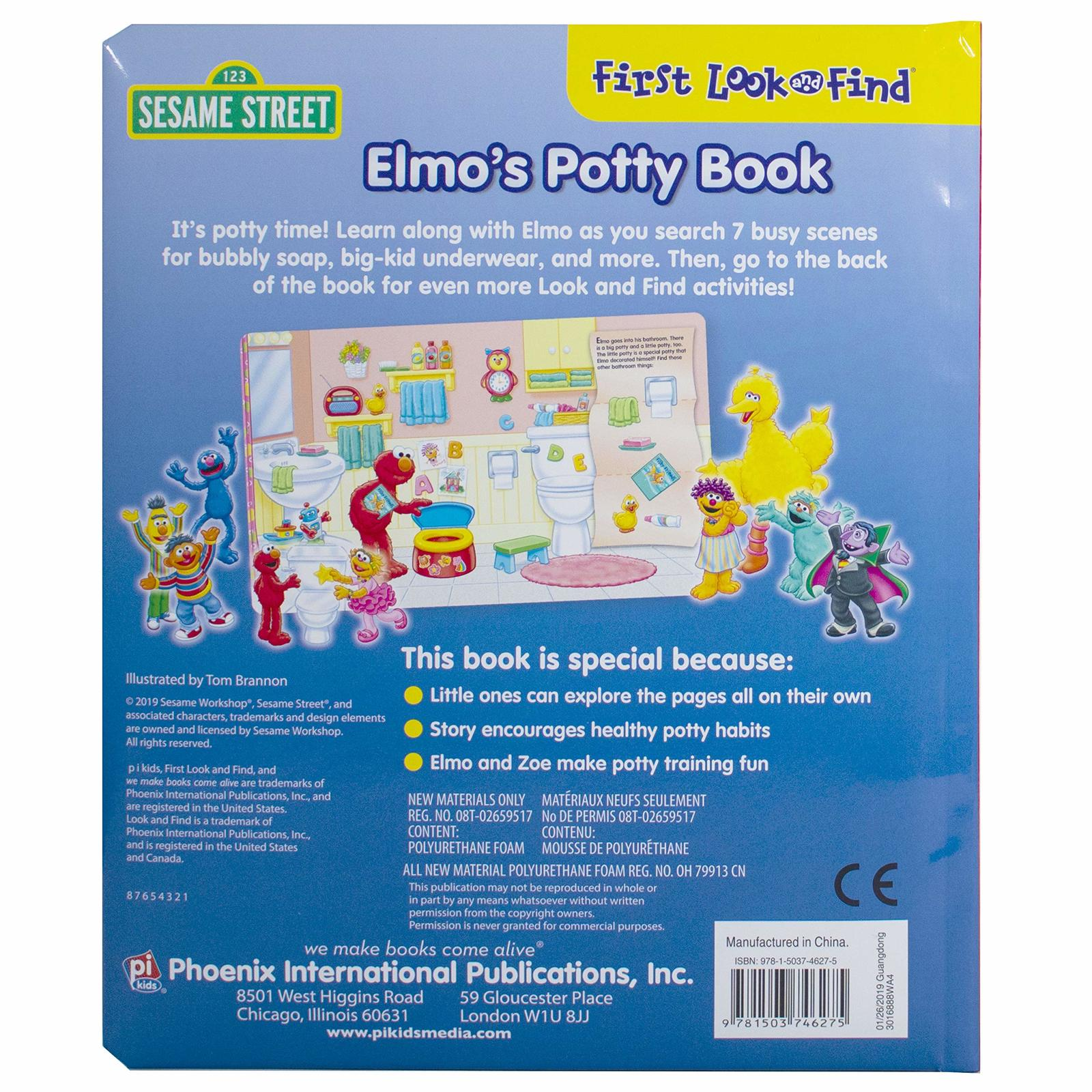 Elmos Potty Book My First Look And Find by P I Kids image
