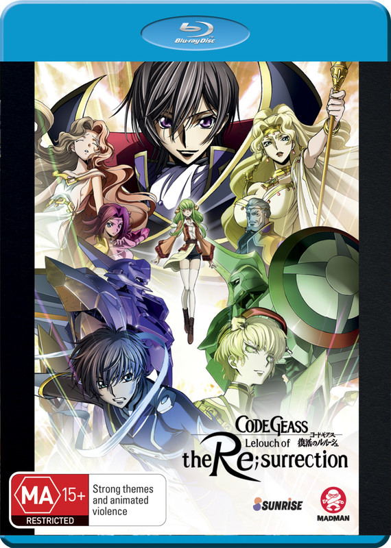 Code Geass: Lelouch of the Re;surrection on Blu-ray