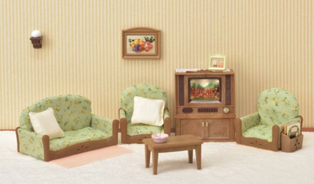 Sylvanian Families: Living Room & TV Set
