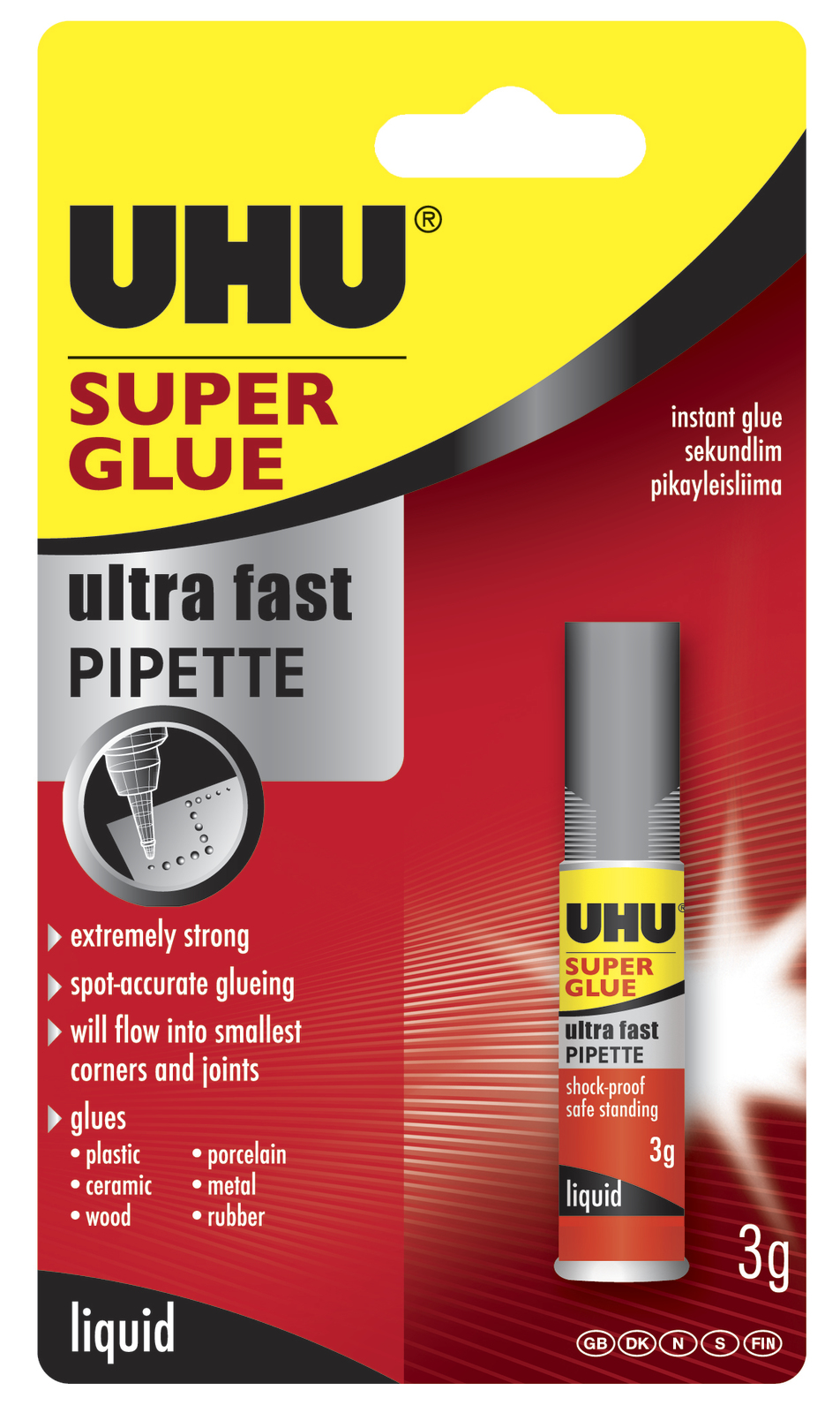 UHU: Superglue Pipette carded (3ml) image