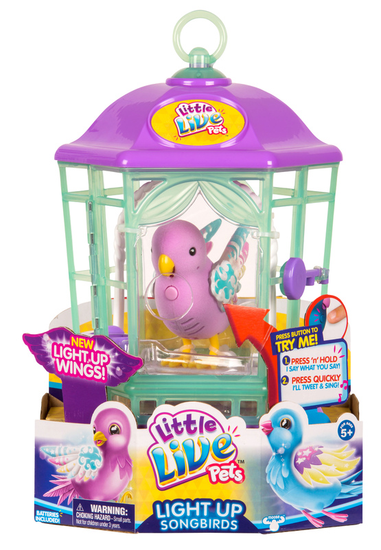 Little Live Pets: Light-Up Bird Cage - Rainbow Glow