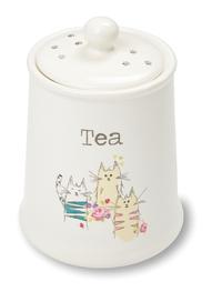 Cooksmart: Top Cats - Ceramic Tea Canister