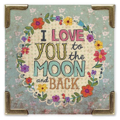 Natural Life: Corner Magnet - Love You Moon image