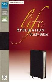 NIV, Life Application Study Bible, Second Edition, Personal Size, Bonded Leather, Black by Zondervan