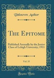 The Epitome, Vol. 35 by Unknown Author image