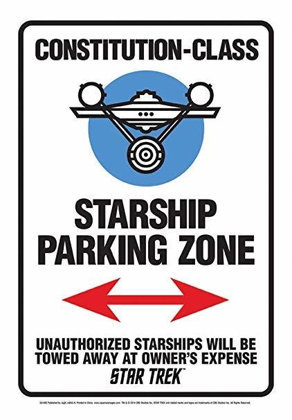 Star Trek Star Ship Parking Tin Sign