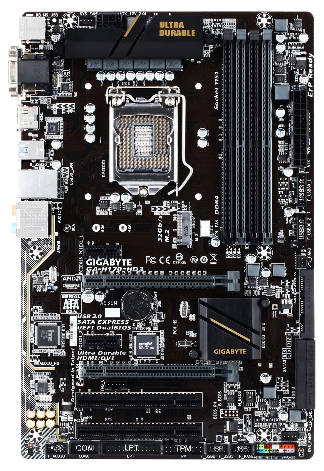 Gigabyte Ga H170 Hd3 Motherboard At Mighty Ape Nz Gaz270x Gaming 9 Socket 1151 Kaby Lake Image