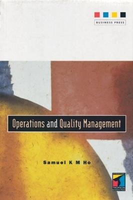 Operations and Quality Management by Sam Ho image