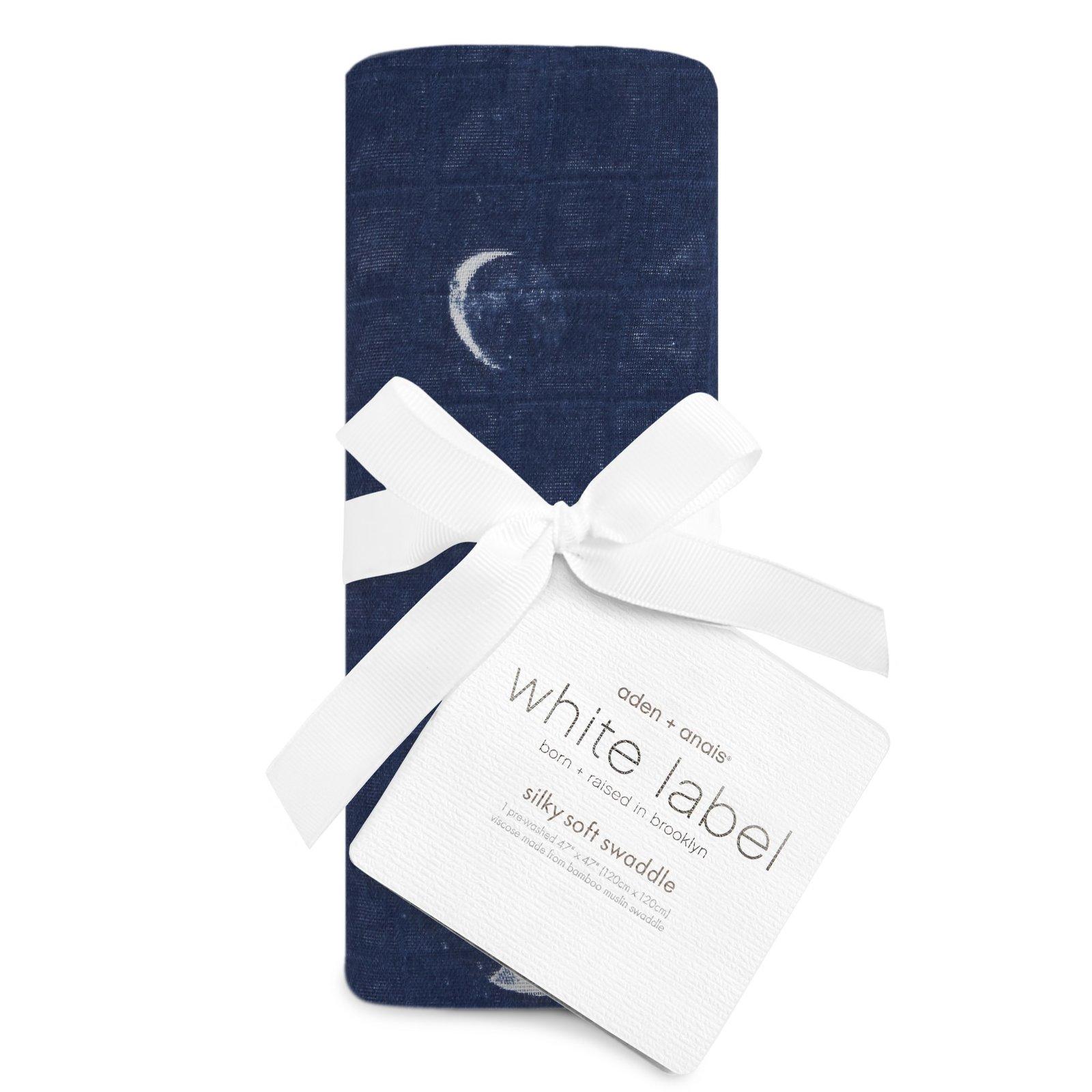 Aden + Anais: White Label Silky Soft Bamboo Muslin Swaddle - Stargaze/Luna (Single) image