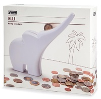 Monkey Business: Elli Rolling Coins Bank - White image