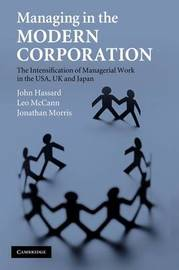 Managing in the Modern Corporation by John Hassard image
