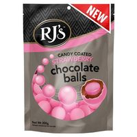 RJ's Candy Coated Strawberry Chocolate Balls (200g)