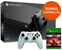 Xbox One X 1TB NBA 2K20 Console Bundle for Xbox One