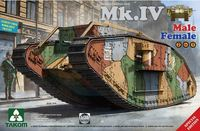 Takom: 1/35 WWI Heavy Battle Tank Mk.IV Male/Female 2 In 1