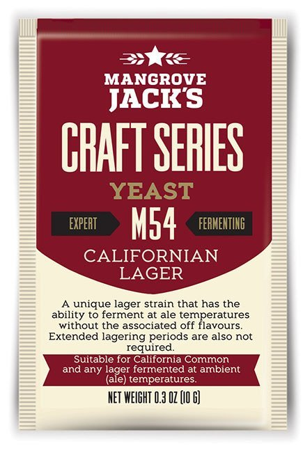 Mangrove Jack's Craft Series Yeast M54 Californian Lager (10g) image
