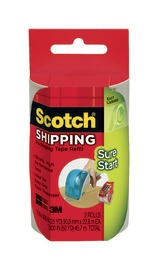 Scotch Sure Start Shipping Packaging Tape Refill 2 Pack - Clear (48mm x 22.8m) image