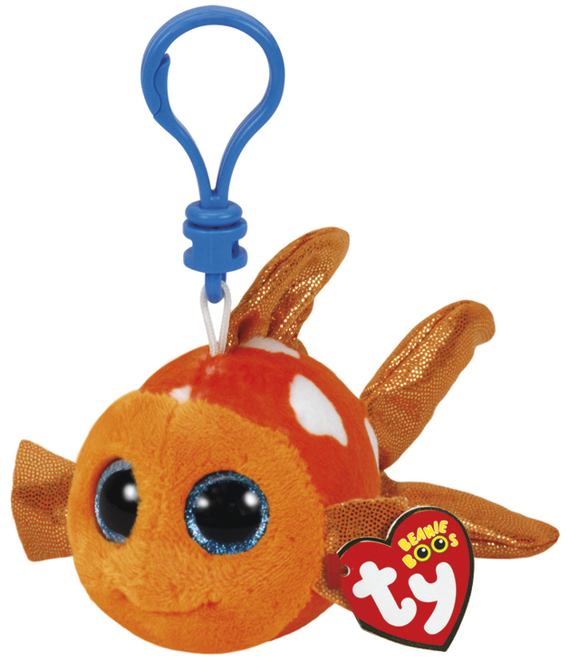 Ty Beanie Boos: Sami Fish - Clip On Plush