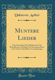 Muntere Lieder by Unknown Author image