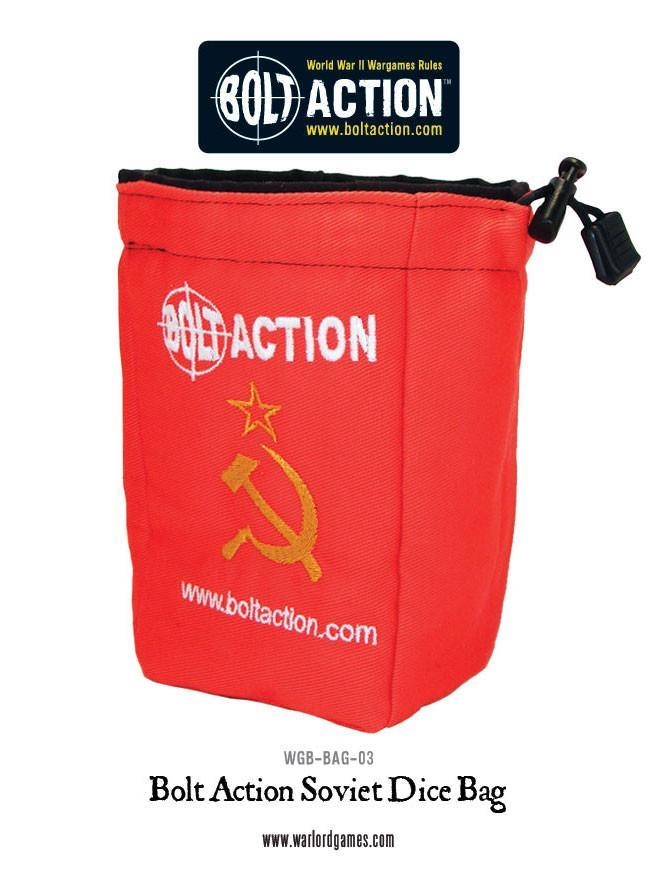 Bolt Action Soviet Dice Bag & Dice image