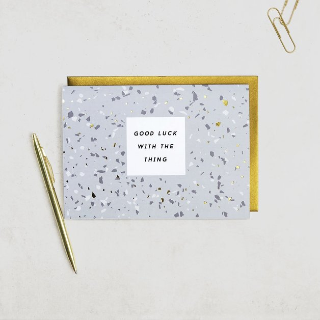 Terrazzo: Good Luck with the Thing Card
