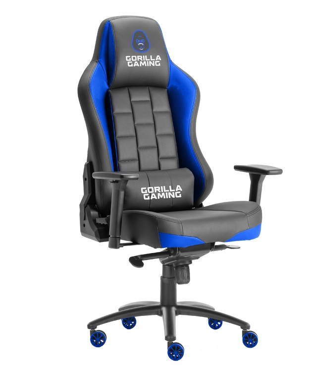 Gorilla Gaming Alpha Prime Chair - Black & Blue for
