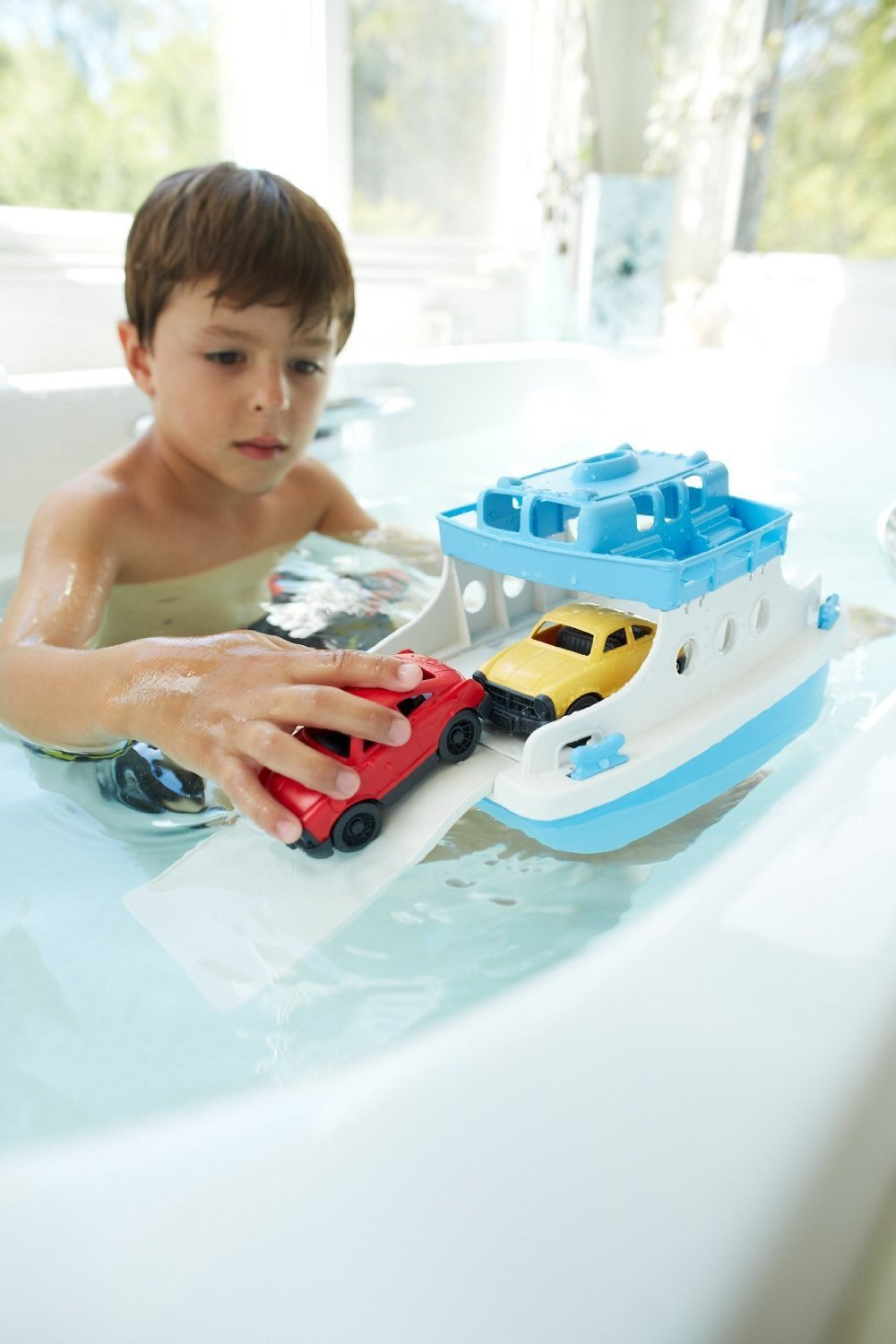 Green Toys Ferry Boat with Mini Cars image