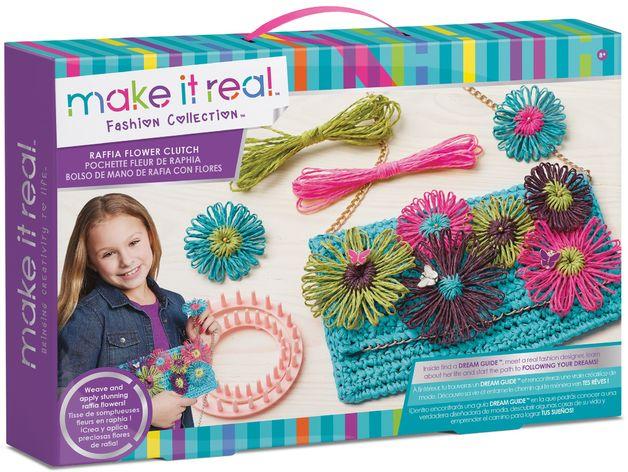 Make it Real - Raffia Flower Clutch