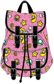 Super Mario Bros Peach Patch All Over Print Knapsack