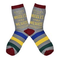 Out of Print: Books Turn Muggles - Women's Crew Socks