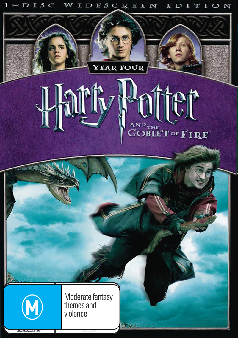 Harry Potter and the Goblet of Fire - 1 Disc (New Packaging) DVD image