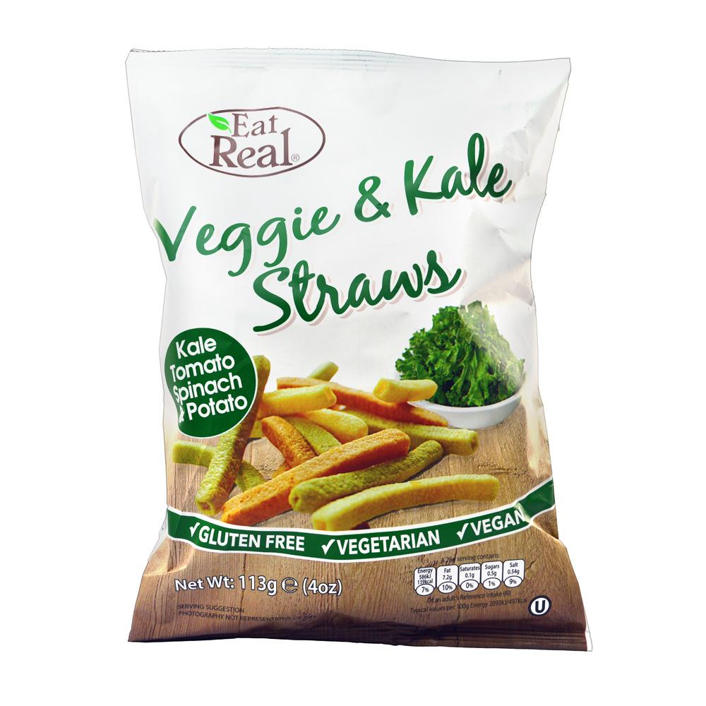 Eat Real Veggie & Kale Straws (113g) image