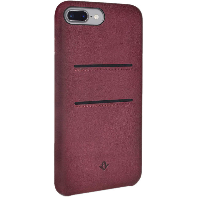 Twelve South Relaxed Leather case w/pockets for iPhone 7 Plus (Marsala)