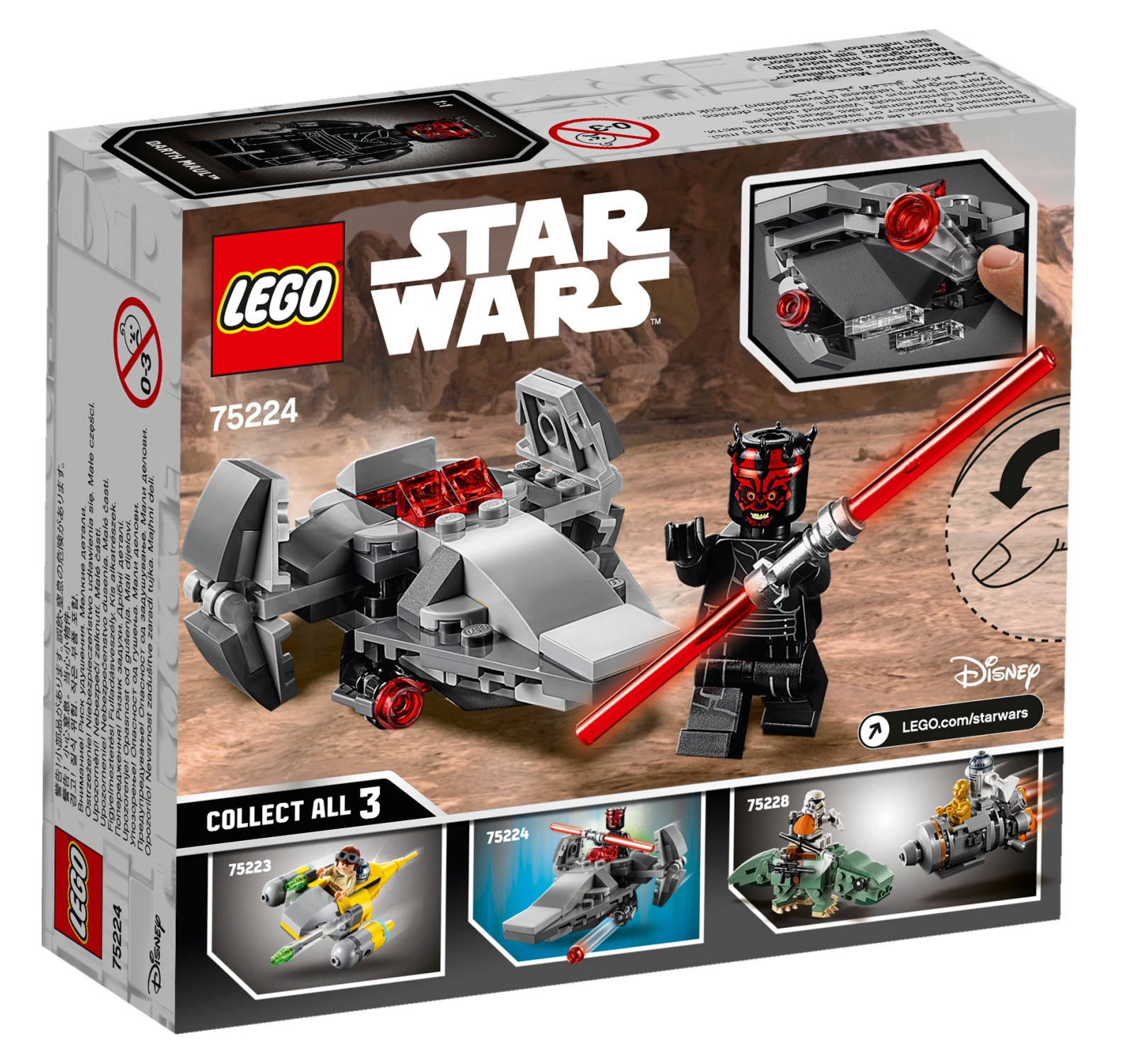LEGO Star Wars: Sith Infiltrator - Microfighter (75224) image
