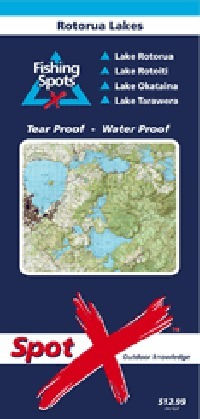 Spot X Rotorua Lakes Chart: Fishing Spots by Mark Airey