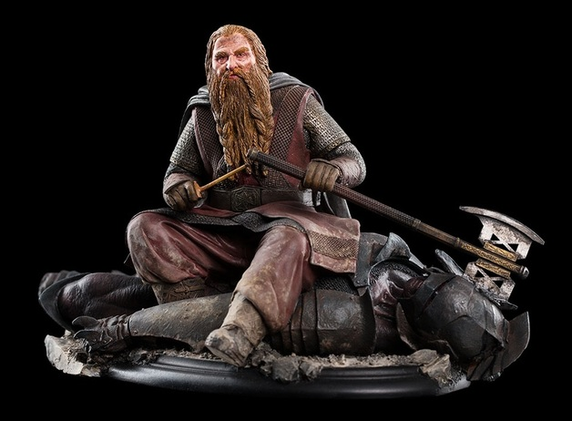 Lord of the Rings: Gimli the Dwarf on Uruk-hai - Miniature Figure