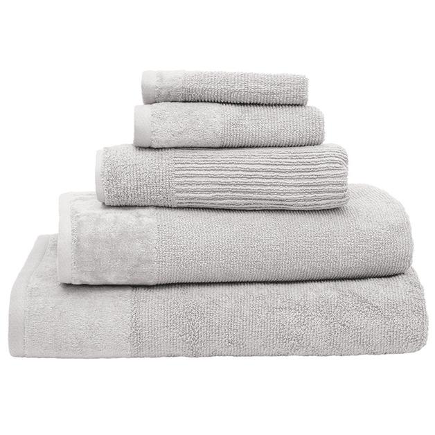 Bambury Costa Cotton Face Washer (Silver)
