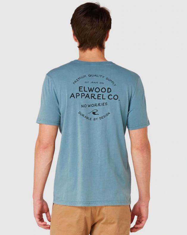 Elwood: Mens No Worries Tee (True Blue) - Large
