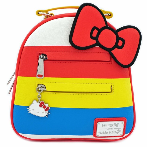 Loungefly: Hello Kitty - Striped with Bow Mini Backpack