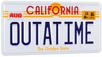 """Back To The Future: """"Outatime"""" DeLorean - 1/1 License Plate Replica image"""