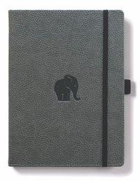 Dingbats Wildlife: A5 Grey Elephant Notebook - Dotted