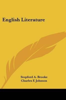 English Literature by Charles F. Johnson image