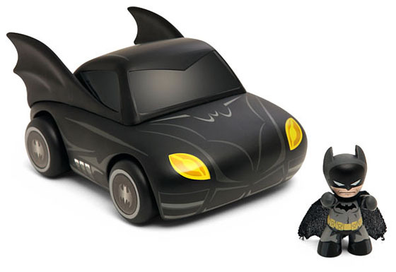 Batman Mini Mez-Itz Batman and Batmobile Vehicle image