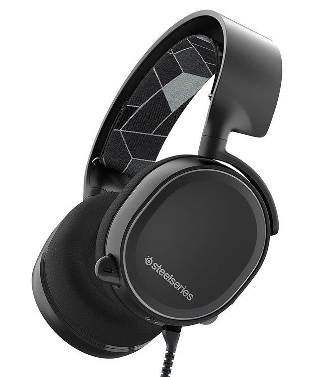 SteelSeries Arctis 3 Wired Gaming Headset (Black) for PC Games