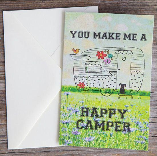 Natural Life: Greeting Card - Happy Camper
