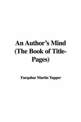 An Author's Mind (the Book of Title-Pages) image